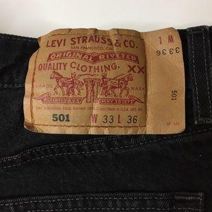 Levi's Jeans - RARE Vintage Levi's 501 black high rise cotton USA